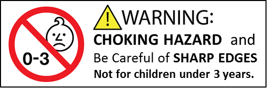 toy warning labels as part of the product labelling requirements for Europe